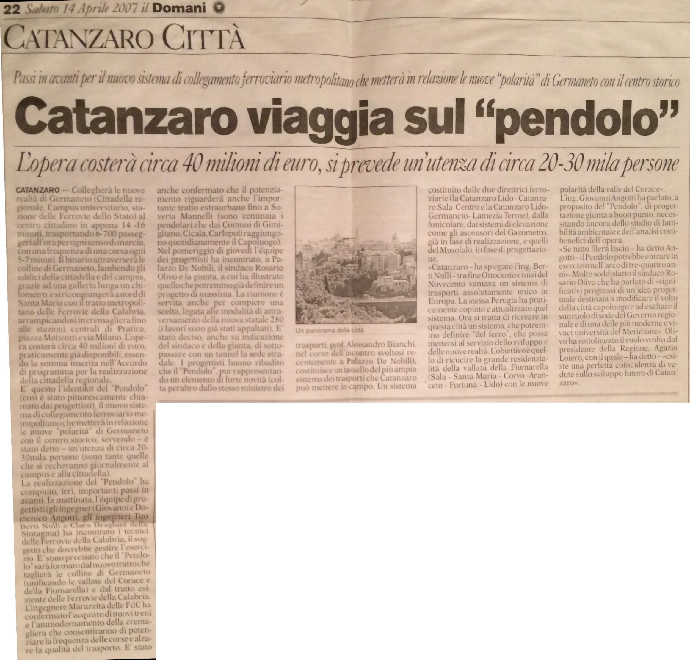 articolo pendolo 2007