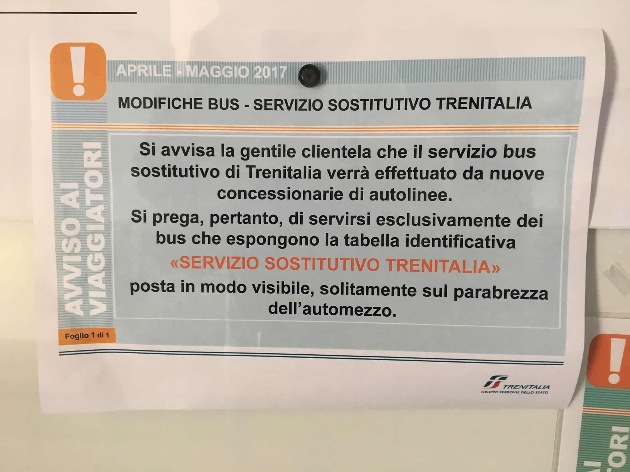 Avviso affidamento bus
